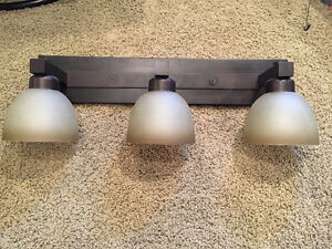 3 Light Round Dome Shaded Indoor Sconce