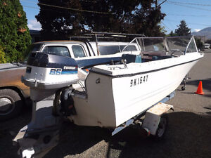 17 foot run-about  with 85hp Evinrude Outboard