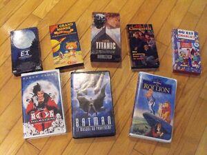 Cassettes VHS pour enfants