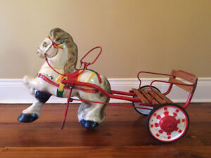 Vintage Carousel Horse Ride-on Pedal Toy