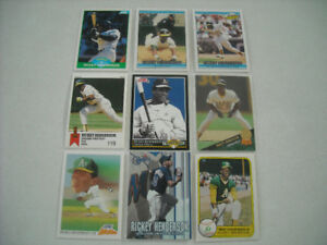 RICKY HENDERSON CARD COLLECTION FOR SALE