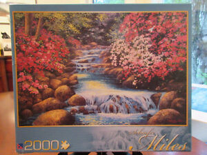 2000 Piece Sure-Lox Puzzle Tranquil Waterfall -  New!