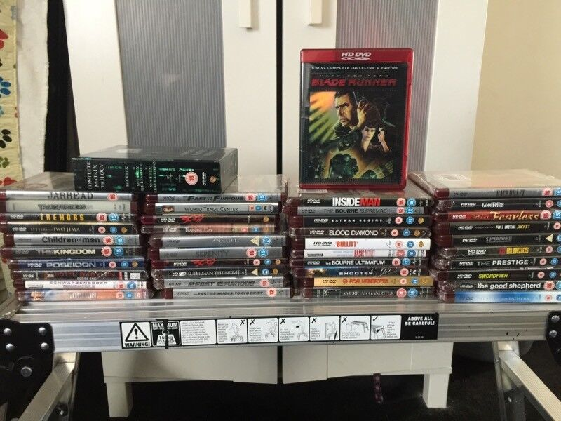 Collection of 44 HD-DVD films