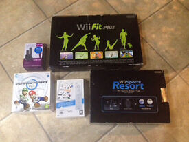 Nintendo wii sports bundle with motion plus, Sports Resort and Wii Fit
