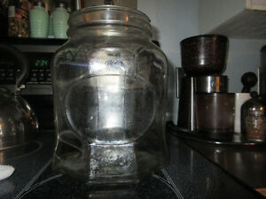 LARGE Antique Glass Candy Store Display Apothecary Jar No Lid