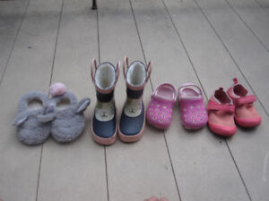 Girls shoes, size 5 - water shoes, boots