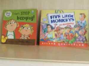 Children's Books and Wooden Alphabet Tray Puzzle