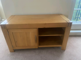 Solid oak John Lewis tv stand