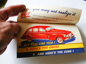 Collectible SUNOCO PRINT ADVERTISING from THE 40'S RARE