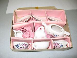 Antique China Toy Tea Set, made in Japan