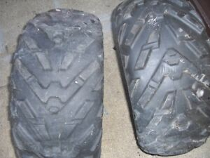 TWO DUNLOPE 25 X 10--12-INCH ATV TRAILERS