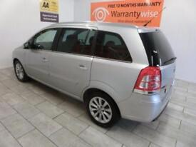 SILVER VAUXHALL ZAFIRA 1.6 DESIGN ***from £168 per month***