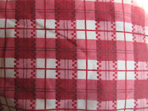 Queen Bed Skirt Red / Burgandy/ Pink Check Plaid