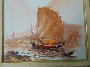 2 Beautiful paintings 1 Water colour and 1 oil painting London Ontario image 6