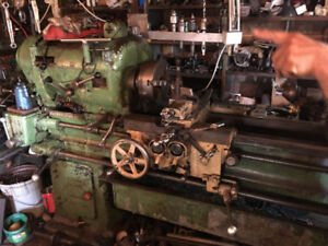 machine shop lathe 2 of them and shaper and portable key cutter