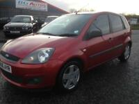 06 FORD FIESTA 1.4 TDCI ZETEC CLIMATE 5 DR METALLIC RED £30 TAX