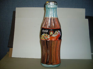 Large Hinged Christmas Coke Bottle Tin 1998...*NEW*