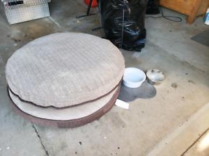 2 Dog Beds + Bowls