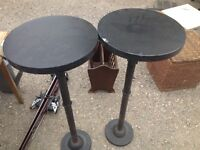 Excellent wood and metal bar stools*2