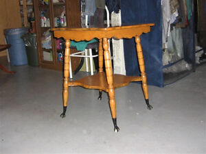 """Antique lamp/plant table 24""""x24""""x29""""h. reduced, priced to sell"""
