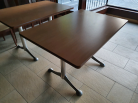 7x Excellent Restaurant/Commercial Dining Tables Solid Wood with Lamin