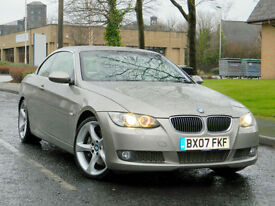 2007 07 BMW 3 SERIES 3.0 335i SE 2dr WITH ONLY 41K MLS+FSH+SATNAV+LEATHER+XENONS