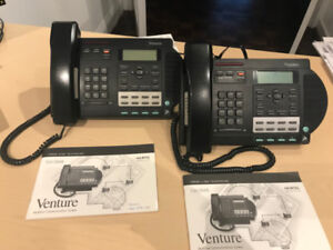 2 Nortel Venture 3-line phones  (works with 2 lines as well)