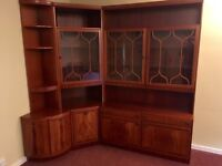 Glass fronted corner wall unit - FREE