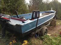 18ft bass boat with 10hp outboard motor