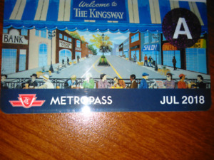 TTC July 2018 Adult Metropass