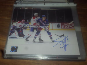 Adam Graves New York Rangers Autographed Game Action 8x10