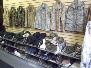 Camouflage clothing for paintball, boots and gear