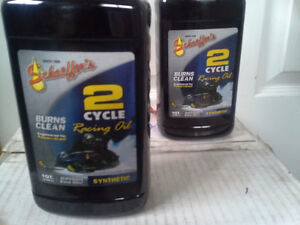 Schaeffer's 2 Cycle Racing Oil Synthetic NEW PRICE Snowmobile