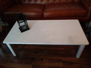 Solid Oak White Coffee Table