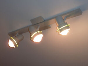 Ceiling Track Light - Project Source 3-Light 30-in Matte White -