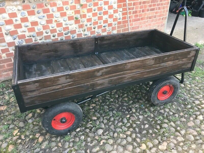 Platform Trolley Cart Garden Heavy Duty Tractor Towable 300 O V N