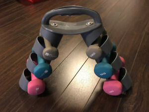 iGym Dumbbell Set 6 Weights Good Condition