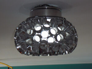 2 STAINLESS STEEL CEILING LIGHTS 2 INOX PLAFONNIERS West Island Greater Montréal image 3