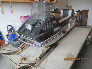1972 Arctic Cat Panther Snowmobile with Trailer