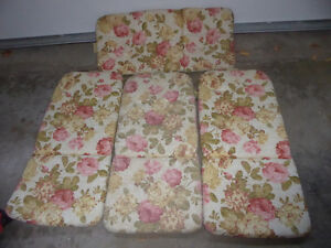 4 patio cushions for high back chairs Kitchener / Waterloo Kitchener Area image 1