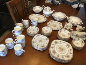 Royal Albert fine bone china Petit Point 1980's HUGE SET!
