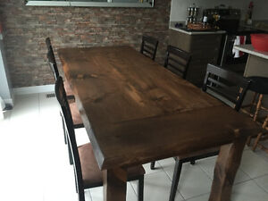 Hand Scraped Rustic Harvest Table - $800
