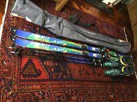 Complete skiing equipment