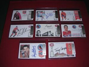 53 Autograph Sign Index Hockey Card Montreal Canadiens 100% COA
