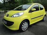 06/06 PEUGEOT 107 URBAN 5DR HATCH IN YELLOW ONLY £20 A YEAR TAX