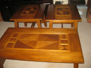 Coffee Table Set - Solid Wood, Coffee Table, Side Tables (2)