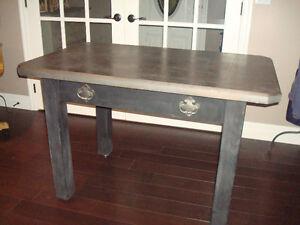 Multi purpose solid wood table