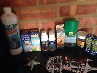 Job lot of Aquarium Fish Tank chemical magnet cleaner etc