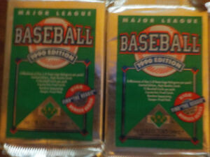 20 unopened packs of baseball cards