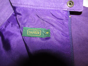DANIER Leather Purple Suede Skirt Gatineau Ottawa / Gatineau Area image 7